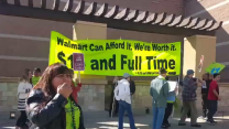 Demonstrators at WalMart on 'Black Friday' Seek Higher Wages for Its Workers