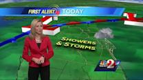 Showers, storms expected Thursday
