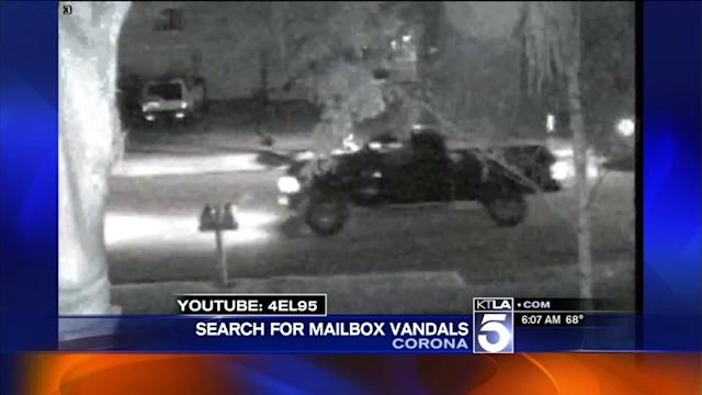 Police Search for Mailbox Vandals