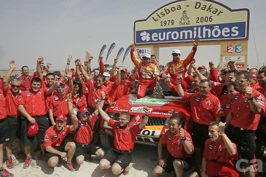 一直以來,吹風噴砂的越野賽事都是MITSUBISHI最擅長的種類,其中又以PAJERO在Dakar Rally賽事中的連霸紀錄最廣為人知。