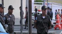 Raw: Increased Security at Rio World Cup Stadium