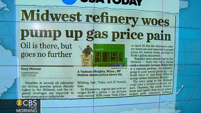 Headlines: Oil refinery outages, repairs mean pain at the pump