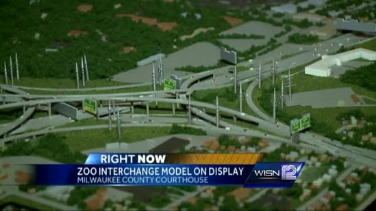 Zoo Interchange model on display at courthouse
