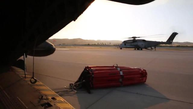 Marine Corps Helicopters Help Fight San Diego Fires