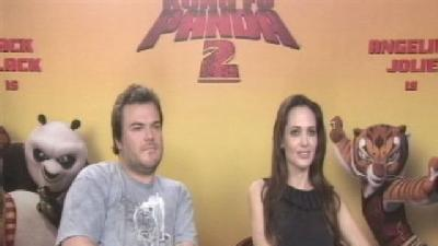 Gino Sits Down With Jack Black & Angelina Jolie