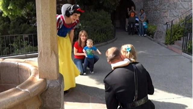 Snow White Grants Girl's Wish to See Marine Dad
