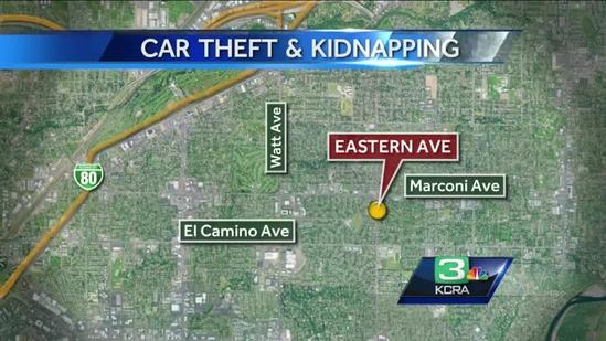Thief steals car, abandons it after realizing 5-year-old was inside