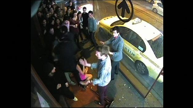 Bouncer punches woman