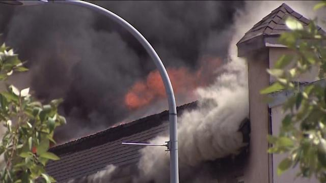 Watch: Massive Fire in CA Commercial Building