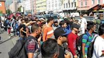 Migrants Arrive in Munich Train Station