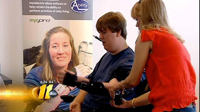 New technology helps teen regain use of arms