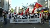 Brazil police disperse World Cup protesters with tear gas, pepper spray