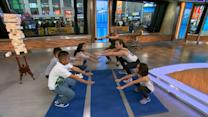 Kids burn off calories with CrossFit exercise
