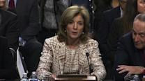 """Caroline Kennedy """"conscious"""" of her father's legacy"""