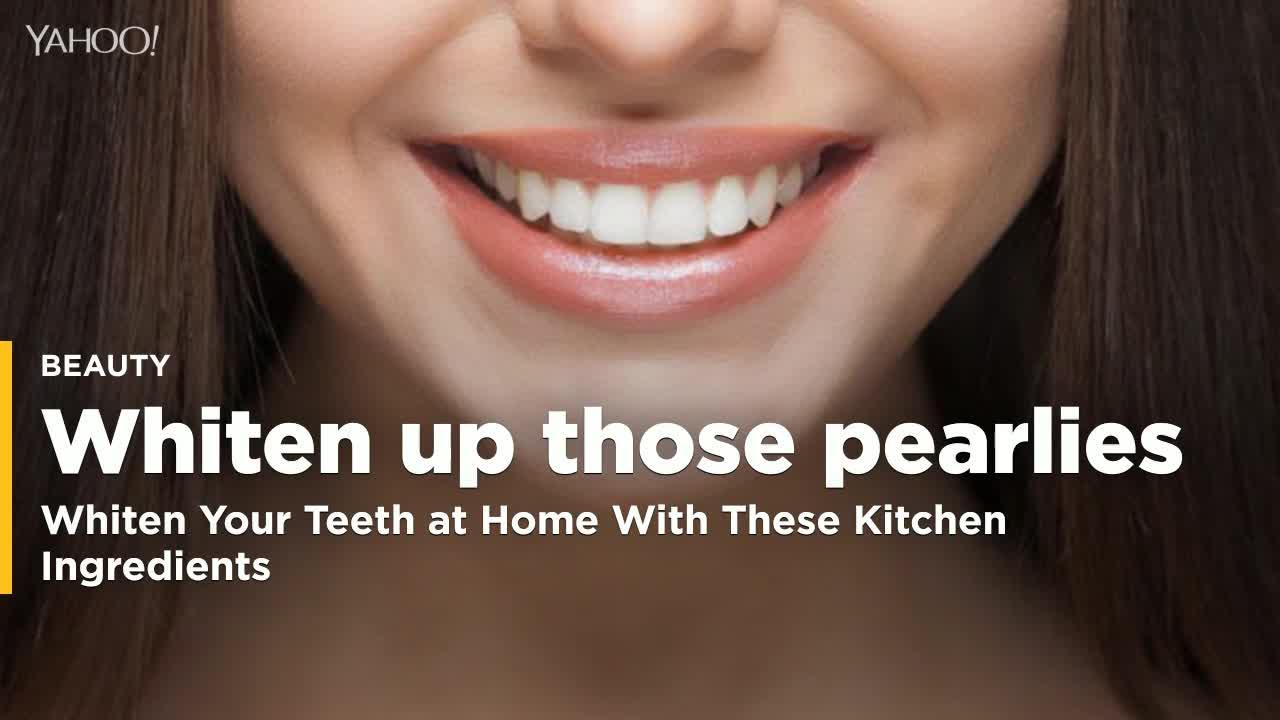 Whiten Your Teeth At Home With These Kitchen Ingredients Video