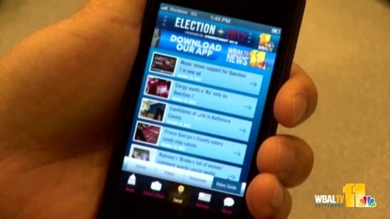 Welcome to WBAL-TV 11's Election 2012 app