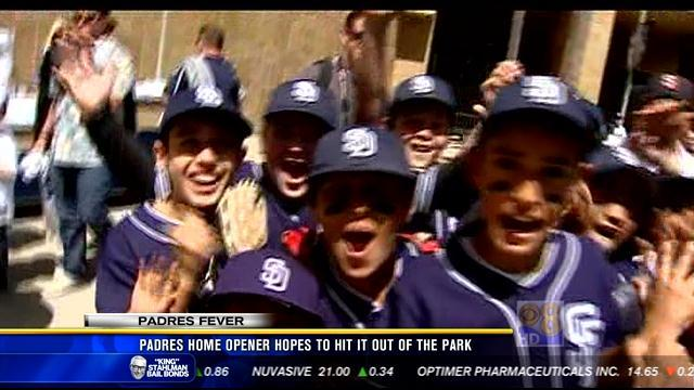 Padres home opener hopes to hit it out of the park