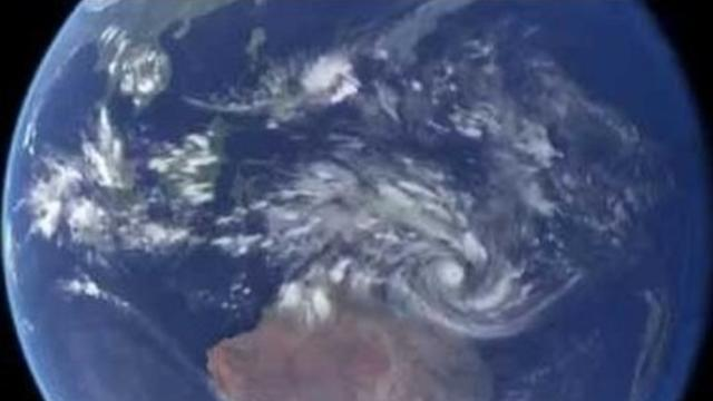 Satellite Imagery Shows Cyclone Ita's Approach