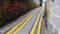 Road Workers Mistakenly Paint Tiny Alley