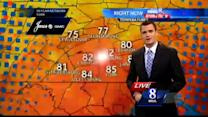Scattered showers, thunderstorms possible today