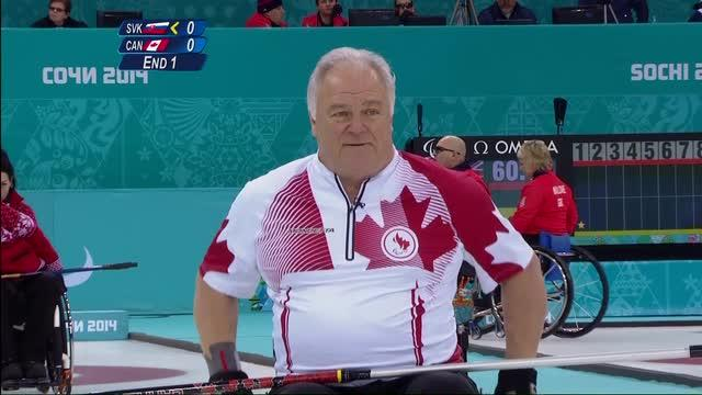 Canadian Curlers win one and lose one, Thursday at the Paralympics