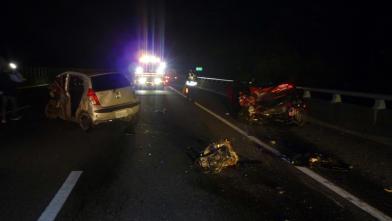 國道死亡車禍 自撞又遭追撞1人慘死