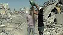 Raw: Bucket Challenge Twist in Mideast Conflict
