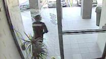 Watch: Robber slams into glass door during getaway