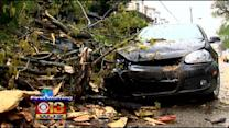 Heavy Rain And High Winds Causing Trouble In Baltimore