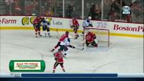 Chris Stewart chips puck in front past Ramo