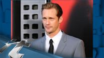 TV News Pop: Alexander Skarsgard Looks Lost And Alone Eating Thai Without Ellen Page!