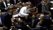 Punches thrown in Ukraine parliament