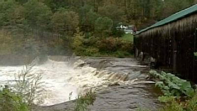Rushing Water Forces Covered Bridge Closure