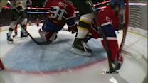David Desharnais miraculously saves a goal