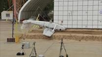NASA crashes plane to test emergency signals