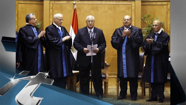 Egypt Breaking News: Egypt: Chief Justice Sworn in as Interim President