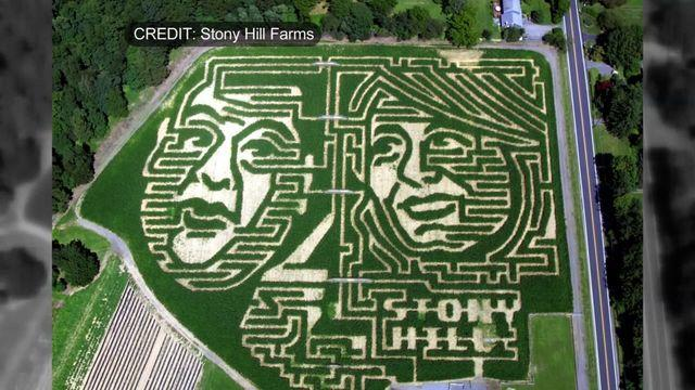 Chris Christie, opponent's likenesses used in N.J. corn maze