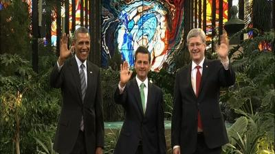 US President Obama Attends Summit in Mexico
