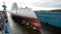 Navy launches futuristic destroyer USS Zumwalt - October 30