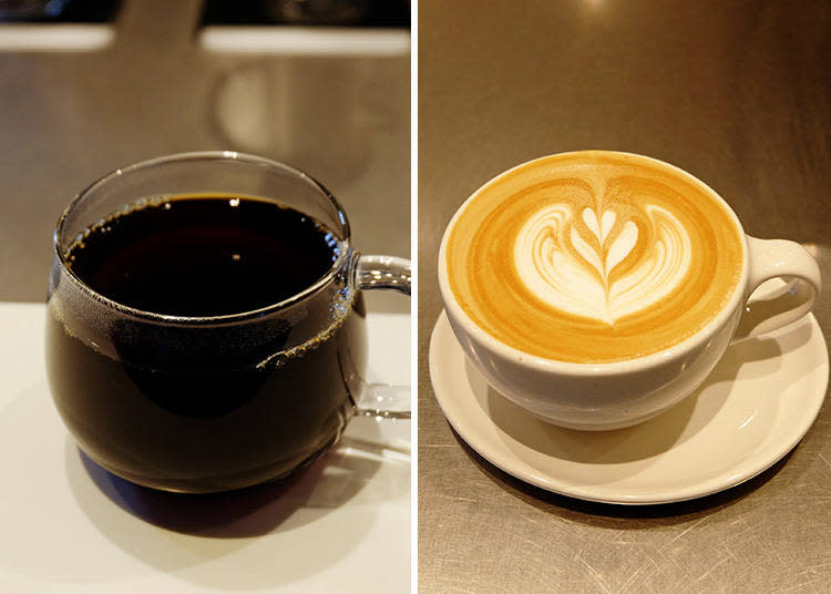 左: BELLA DONOVAN 450日圓/右: (SINGLE ORIGIN) COSTA RICA LOURDES DE NARANJO FINCA FIDEL 650日圓