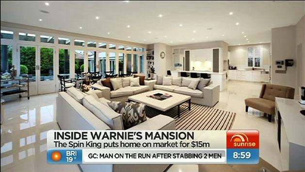Inside Shane Warne's mansion