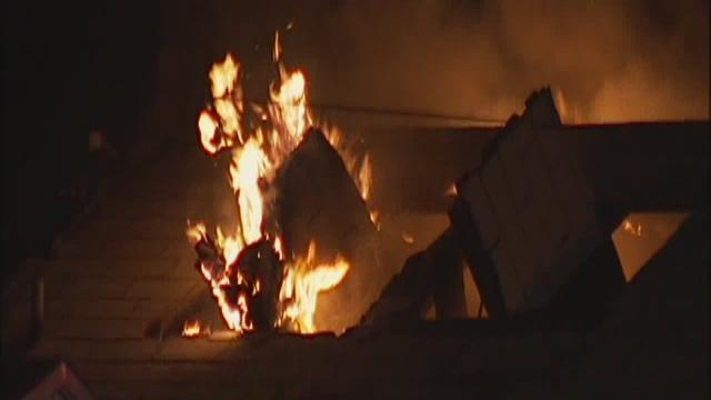 Fire engulfs vacant home