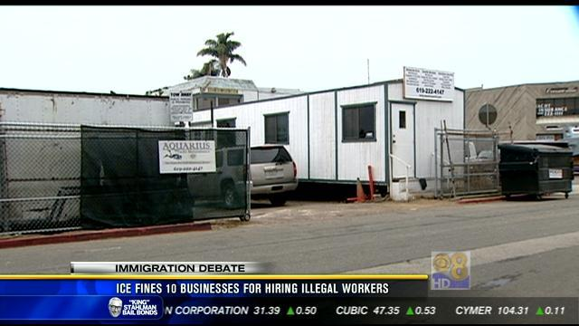 ICE fines 10 Southern Calif. businesses for hiring illegal workers