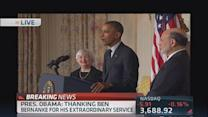 President Obama nominates Janet Yellen for Fed Chair