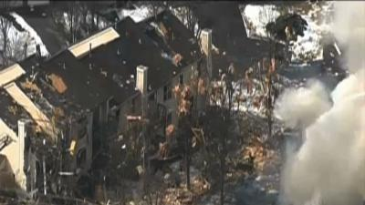 Raw: NJ House Explosion Causes Heavy Damage