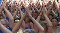 Thousands of Yogis Fill Times Square