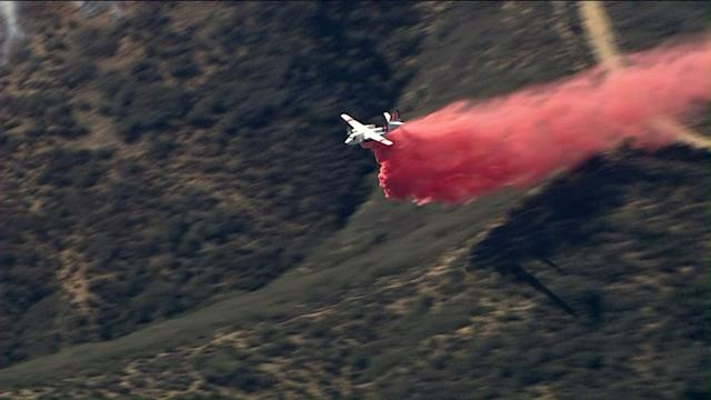Raw Video: Crews Attack Springs Fire From the Air