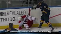Steve Ott levels Nathan Gerbe in the corner