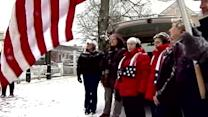 Freeport Flag Ladies release balloons for Newtown victims