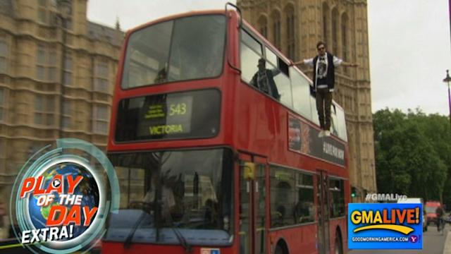 Magician Dynamo Levitates Alongside Double-Decker Bus